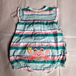 Carter's Snap Up Romper Newborn 6-9 Pounds NWT